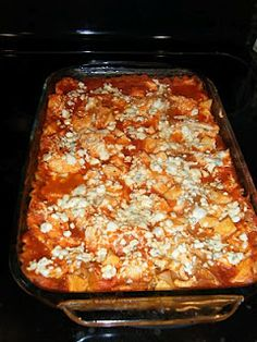 Buffalo Chicken lasagna, made this tonight and it's amazing!!! (Weight Watchers)