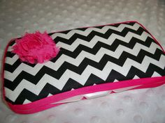 Chevron Baby Girl Wipes Case  Baby Girl by grinsandgigglesbaby1, $9.99
