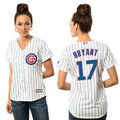 Get this Chicago Cubs Kris Bryant Ladies Home Cool Base Replica Jersey at WrigleyvilleSports.com