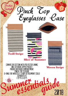 Graphic for VIP Facebook group or party. Pinch top eyeglasses case Summer essentials product spotlight. Thirty-One spring/summer 2018 www.mythirtyone.ca/sabrinawhite