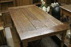rustic wood dining room table  -   something similar to this
