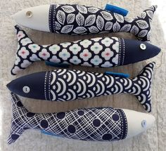 Handmade Decorative Items, Fabric Fish, Fish Crafts, Contemporary Fabric, Fish Patterns, Scandinavian Style, Portuguese, Fabric Scraps, Etsy