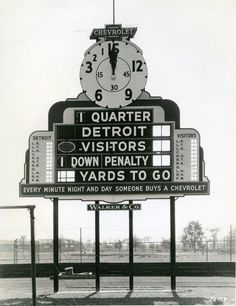 Football Scoreboard At University Of Detroit Stadium C 1935