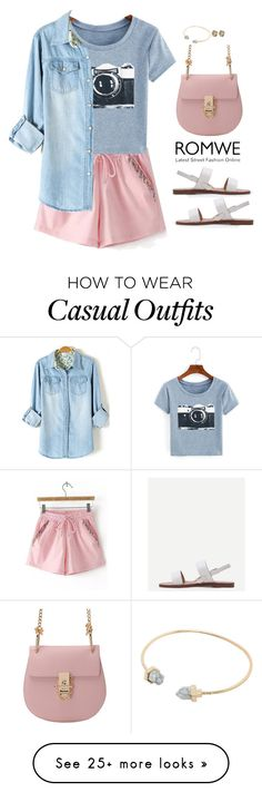 """Romwe casual"" by blueeyed-dreamer on Polyvore featuring casual, contest, denim, sandals and romwe"