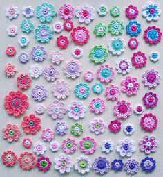 bloemetjes gesorteerd, gemaakt in opdracht