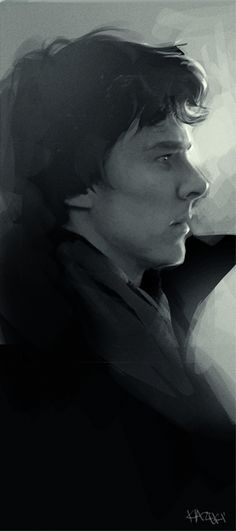lovely sherlock fanart// this is a drawing?? good lord, amazing