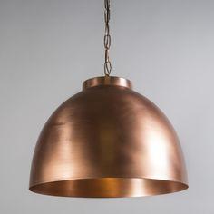 lmpara colgante hoodi xl cobre mate industrial diseo decoracion