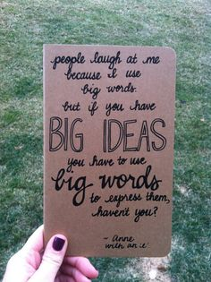 Customized, Handwritten, Large Moleskine Cahier Notebook, Anne of Green Gables Quote on Etsy, $12.50