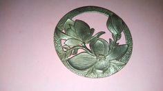 Large Pewter Flower Finding MM342 by MICSJEWELSGALORE on Etsy