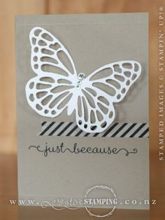 Two simple butterfly cards - Kristine McNickle - Independent Stampin' Up! Simple Butterfly, Butterfly Cards, Note Cards, Thank You Cards, Stamping Up, Effort, Butterflies, Card Making, Minimal