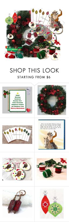 Christmas Decor and More by owlartshop on Polyvore featuring interior, interiors, interior design, home, home decor, interior decorating, Christmas, giftidea and EtsySpecialT