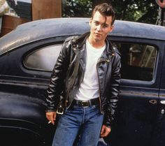 "johnny depp in ""cry baby."""