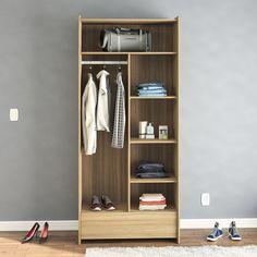 Para deixar o quarto organizado e ainda mais moderno, aposte nos closets. ;)