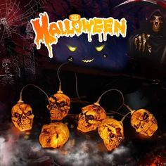 🎃Hot Sales🎃--Solar Pumpkin/Skull/Ghost Wind Chime Light Outdoor Halloween, Halloween Christmas, Spirit Halloween, Happy Halloween, Christmas Trees, Halloween Witch Decorations, Halloween Pumpkins, Halloween Crafts, Halloween Costumes