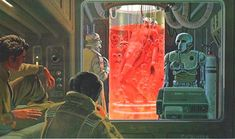 Luke in bacta tank recovering from his injuries incurred on Cloud City