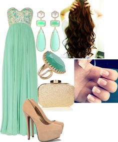 Love the color of the dress with the nude pumps and turqoise cocktail ring