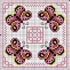 Pink Butterfly Biscornu ♥: