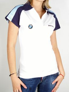 BMW Motorrad T-shirt For Women - White Short Printable Stencil Patterns, Corporate Uniforms, Uniform Ideas, Racing Team, Visual Identity, White Shorts, Shirt Designs, T Shirts For Women, Lifestyle
