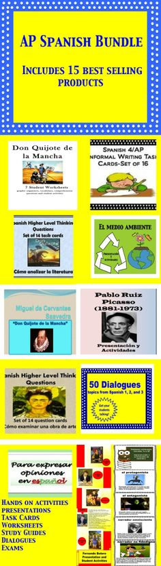 Save $20.00!! Best Selling Spanish AP products now bundled.