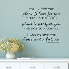 Belvedere Designs LLC Plans to Give You Hope and a Future Wall Decal & Reviews   Wayfair