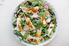 Haloumi Salad is one of my favourites and it's a great vegetarian lunch alternative! It goes so well with nourishing kale and juicy cranberries!