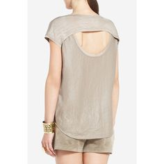 Contrast top with cutout detail... in a different color