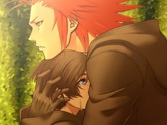 Xion and Axel. I love them together, Axel was like her dad.