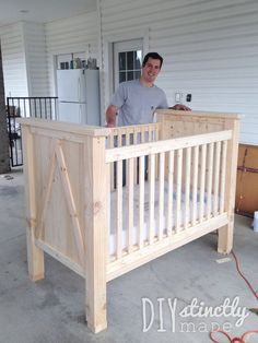Rustic Homemade Wooden Baby Crib Plans Blueprints Baby