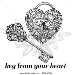 Image result for lock and key tattoo