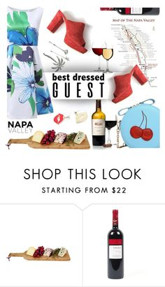 """Untitled #1055"" by wannanna ❤ liked on Polyvore featuring napa, winerywedding, bestdressedguest and vineyardwedding"