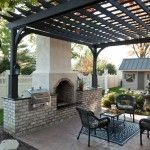 Pergola with fireplace/oven