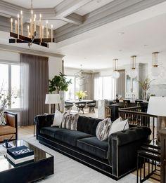 Luxurious, elegant and big Living room designed by Atmosphere. Black velvet sofa, gold ad brass lamp, white lamps. For more decor inspirations visit www.bessadesign.com #exclusivedesign #homedecor #luxurydecor #interiordesign #homedesign #interiorproject #luxuryinteriors #luxuryhomes #decoration #contemporaryfurniture #contemporarydesign #interiorstyling #designtrend #bessadesign #designlovers #decorationideas #interiorart #decorinspirations #2018decortrends