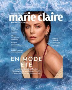 Un petit plongeon dans le tout nouveau Marie Claire Belgique d'août, ça vous dit? 💦  #marieclaire #marieclairebe #augustissue #augustbaby #august #magazines #dummerishere #charlizetheron #aout #covergirl #magazines #heatwave