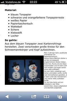 Schneemann aus watte