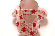 Baby Shoe Pattern MaryJanes with Ruching INSTANT by petitboo