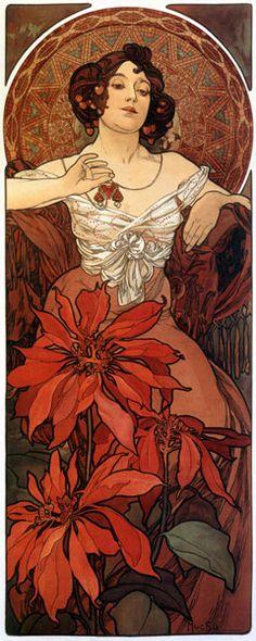 The Precious Stones: Ruby (1900) - Alphonse Mucha