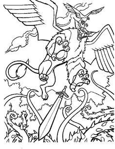 Tegninger til Farvelægning Det magiske sværd 5