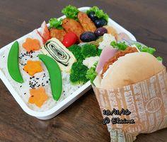 Breakfast  and  lunch bento . . . .  #sgfood #sg #breakfast #lunchtime #lunch #lunchbox #homecooked #homemade #vegetables #veggies #chicken #eggs  #carrot #healthyfood #healthy #healthyeating #burger #lettuce #ham #chickenbreast #fruit #fruits #hotdog #eggrolls #seaweed #broccoli #cauliflower #bentobox #bento