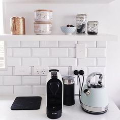 Love our striking Sunbeam London Collection Kettle in Pale Blue and our Breville Nespresso U Coffee Machine in White in @thefanciful_ 's amazing kitchen space. #thatsbetta #golocal #shoplocal #sunbeamau #sunbeamlondoncollection #breville #interiors #home #style #kitchen #appliance #kettle #homestyle #design #interiordesign #kitchenlove #coffee #tea #mornings