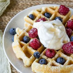 This Classic Waffle Recipe makes perfectly crisp waffles with fluffy insides that are to die for! Made with simple ingredients you already have. All You Need Is, Classic Pancake Recipe, Tasty Pancakes, Baked Banana, French Toast Casserole, Waffle Recipes, Breakfast Recipes, Breakfast Waffles, Breakfast Items