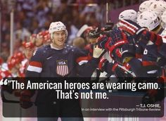 T.J. Oshie on Heroes