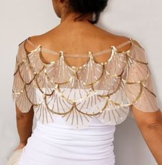 Sequined Wedding Cape, Sparkling Bridal Capelet, Tulle Shrug, Sea Shell Shoulder Dress Cover-up, Off-White Special Occasion Romantic Bride Wedding Cape, Wedding Jacket, Bridal Cape, Tulle Wedding, Bridal Bolero, Mesh Dress, Lace Dress, Dress Shoes, Shoes Heels