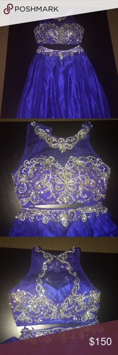 Prom dress Two piece prom dress royal blue Dresses Prom