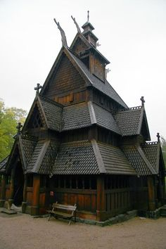 Stave Church, Oslo, Norway