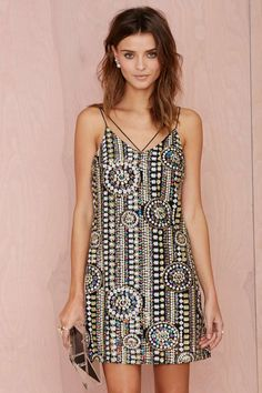 The Crazy Train Sequin Dress - Shift | Going Out | Dresses |
