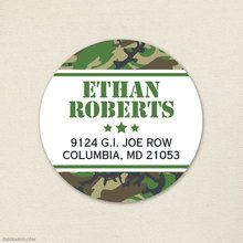 Camo Party Address Labels