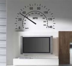 Speedometer Wall Decal Sticker Room Nursery Car Cars Baby Man Garage Speed Fast - Amazon.com