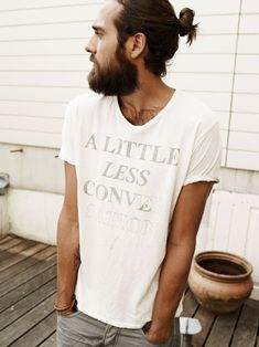 I so wish I could wear the long hair/beard style and look as good and organic as this guy.