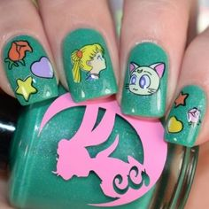 16 Nail designs inspired by Sailor Moon to never mature NEVER - Best Nails For Women Uñas Sailor Moon, Nailart, Fun Nails, Things To Come, Polish, Gifts, Inspiration, Women, Long Nails