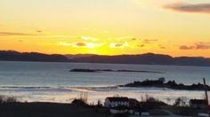 Solnedgang på Utøya